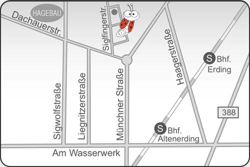 Lageplan Fahrschule Manske, Erding